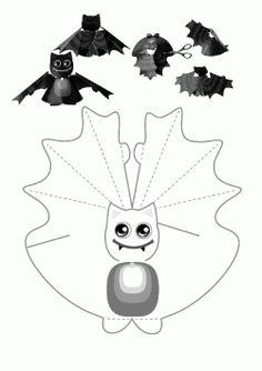Yarasa Kalıbı. Bat printables. Molde del bate. летучая мышь.