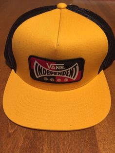 7dffd7d8 Vans Independent Black And Yellow Trucker Hat #fashion #clothing #shoes  #accessories #
