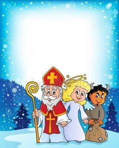 St Nicholas Day, School Frame, Overlays, Christmas Time, Princess Peach, Saints, Illustration, Free, Fictional Characters