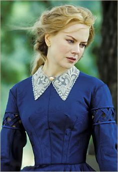 (2003) Baroness Jeanne Rayte, Lena's governess Nicole Kidman, Cold Mountain. Wish I could find the whole dress...