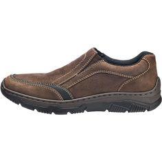 Komfortable rieker Slipper aus strukturiertem Echtleder. Praktische Stretcheinsätze sorgen für eine optimale Passform und viel Halt.<br /> <br /> - gepolsterter Schaftrand<br /> - Verschluss: Schlupf<br /> - gepolstertes Fußbett<br /> - rutschhemmende Laufsohle<br /> - Schuhweite: G<br /> <br /> Obermaterial: sonstiges (Nubukleder)<br /> Futter: sonstiges Material (Synthetik)<br /> De...