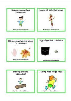 Mariaslekrum - Uppdragskort Educational Activities For Kids, Outdoor Activities For Kids, Nature Activities, Math For Kids, Preschool Crafts, Preschool Activities, Outdoor Games, Learn Swedish, Swedish Language