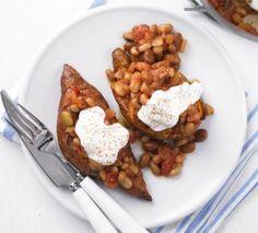 Baked sweet potatoes & beans « Mummy Shape School