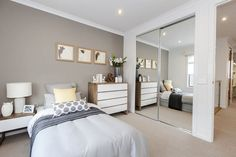 Good sized bedroom, good BIR's, good wall colour - (Scandinavian - Vaucluse - Metricon)