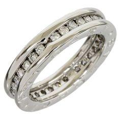 preowned bulgari bzero1 18k white gold 1band diamonds ring size