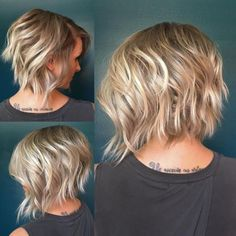 70 Fabulous Choppy Bob Hairstyles - Soft Blonde Wavy Bob The best image about di surgical mask free pattern for your taste You are l - Short Hair Styles For Round Faces, Short Hair With Layers, Curly Hair Styles, Short Wavy, Short Pixie, Pixie Cuts, Short Cuts, Inverted Bob With Layers, Bobs For Round Faces