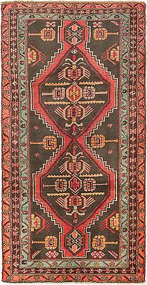 "SHIPS CANADA ONLY-Hand-knotted Persian 4'7"" x 9'2"" Meshkin Black, Red Wool Rug"