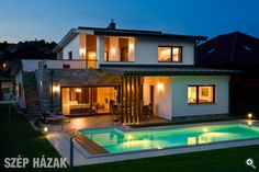 WEBSTA @ newgizaegypt - Care for a swim at dusk? Southwestern Home, Minimal Home, Pool Houses, My Dream, Minimalism, Sweet Home, Rustic, Mansions, Architecture