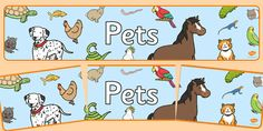 Editable Pets Banner - perfect for your pets display!