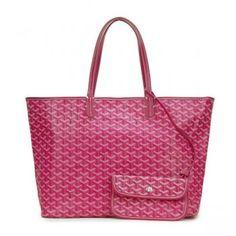 Goyard Coated Canvas St. Louis Tote Bag Rose Pink PM
