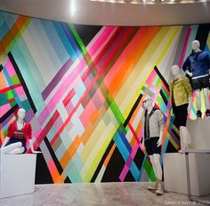 Maya Hayuk colourful graffiti style art by Maya Hayuk
