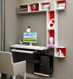 Simple home desktop computer desk simple small apartment new space ...