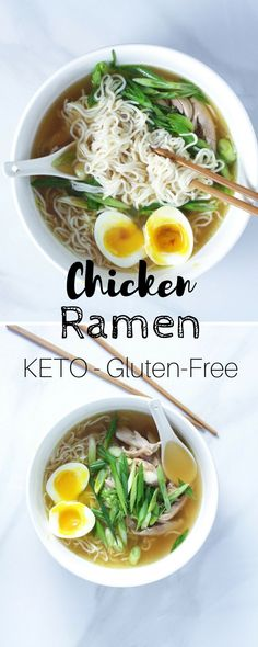 Easy Keto Chicken Ramen - This low-carb ramen recipe requires very little work and is immensely satisfying.