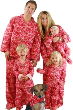Wearing Family Christmas Pajamas are such a great way to ring in Christmas  - and they make for great photos 597aab651
