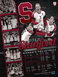2013 Stanford Women's Volleyball Schedule Poster