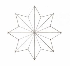 pattern for 8 pointed star | ... , Pins, Pinning Board, Soaking Tray and water, Copy ofStar Pattern