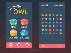 Dots Owl game ui