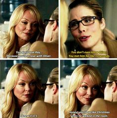 Arrow - Felicity & Donna 3x18 - Mama Smoak knows her daughter to well