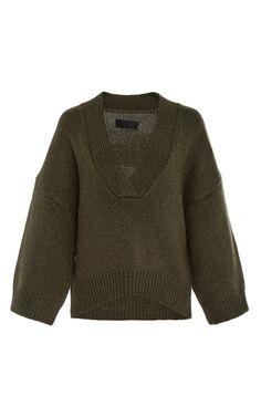 Medium nili lotan dark green logan cashmere sweater