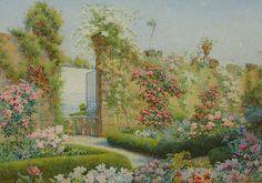 . English Cottage Style, English Cottages, Ribbon Work, Silk Ribbon, Herbaceous Border, Romantic Cottage, Rose Art, Illustration Art, Illustrations