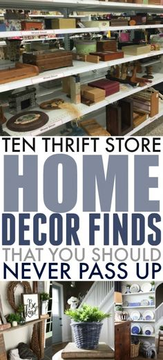 unique home decor If you love the idea of creating a unique, character-filled home without having to spend an arm and a leg, then your local thrift store is your best friend! Heres my list of thrift store home decor finds that you should never pass up. Thrift Store Shopping, Local Thrift Stores, Thrift Store Crafts, Thrift Store Finds, Shopping Hacks, Goodwill Finds, Store Hacks, Online Thrift, Thrift Store Diy Clothes