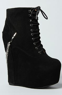 Jeffrey Campbell The Claw Damsel in Black Suede and Pewter : Karmaloop.com - Global Concrete Culture --- I have these!!! ♥