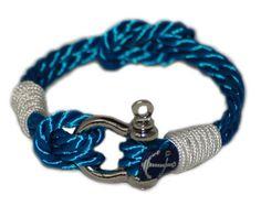 Mens Shackle Bracelet - Twisted Rope Bracelet - Nautical Bracelet -  Sailor Bracelet - Free Shipping Worldwide (16.64 EUR) by TheBranMarion