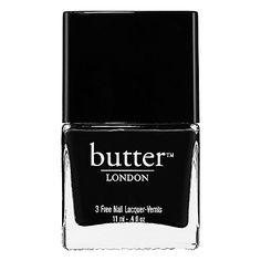 butter LONDON - 3 Free Nail Lacquer - Union Jack Black - jet black #sephora
