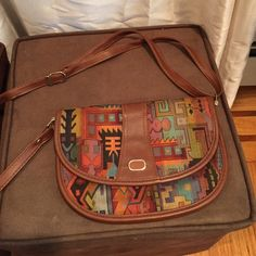 Brown bag Nice brown leather cross body poketbook from Germany  like new 10long 7high Bags Crossbody Bags