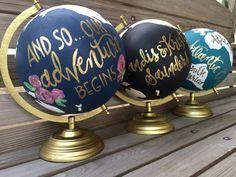 Benutzerdefinierte Hochzeit Gästebuch Globe von TheAugustReign