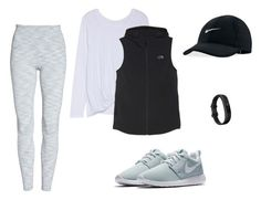 """""""Athletic Style"""" by aecook2 on Polyvore featuring Zella, Fitbit, The North Face and NIKE"""