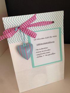 Geschenke für Frauen - 15 Minuten Zeit für Dich - Tee - Geschenkset - - ein Designerstück von Heikes-Kreativseite--Skippydog bei DaWanda