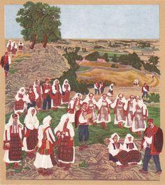 Tamberitzans in old school Croatia Folklore, Croatia Pictures, Folk Costume, Costumes, Spring Art, Naive, Mythology, Culture, Fantasy