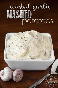 Roasted Garlic Mashed Potatoes | Self Proclaimed Foodie