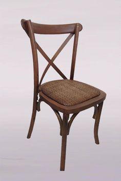 Cadeira Cross com Rattan | Tiffany Brasil