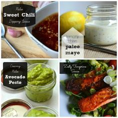 Paleo-friendly sauces...all recipes on the blog ( BE SURE TO SUB KETO COMPLIANT SWEETENERS!).