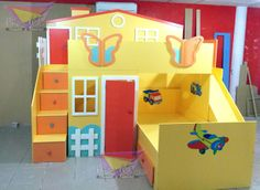 1000 images about muebles on pinterest cool kids rooms - Literas infantiles divertidas ...