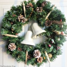 Rustic wreath with b