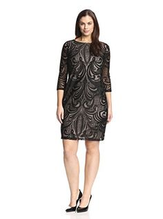 www.myhabit.com  Ponte knit dress with lace overlay at front, 3/4 sleeves and hidden back zipper