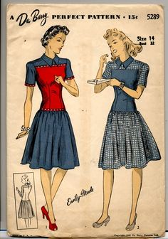 Vintage 1940s DuBarry Dress Sewing Pattern  by Vessangel