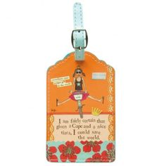 Save The World Luggage Tag