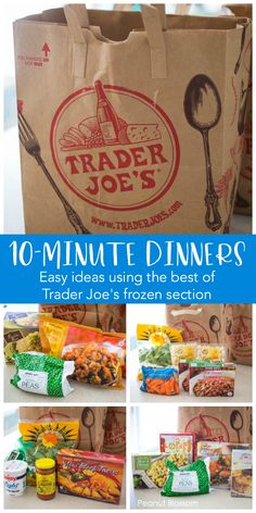 Easy Trader Joe's dinner ideas using the very best products from their frozen department. Grab these life savers during your next shopping trip for an easy meal in a pinch! easy meals Trader Joe's meals: the best busy night dinners in a hurry! Planning Menu, Planning Budget, Trader Joes Food, Trader Joe Meals, Trader Joes Salad, Best Frozen Meals, Healthy Frozen Meals, Joe Recipe, Quick Meals