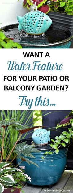 Wouldn't you love to hear the peaceful sounds of trickling water on your patio? You'll love this SIMPLE + EASY Container Fountain Idea + Tutorial to Make Your Own Container Water Fountain