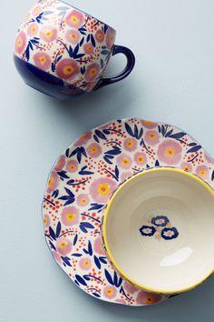 Painted Poppies Mug | Anthropologie