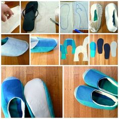 DIY Fabric Slippers crafts craft ideas easy crafts diy ideas diy crafts diy clothes easy diy fun diy diy shirt diy shoes craft clothes craft fashion craft shirt fashion diy craft shoes winter crafts