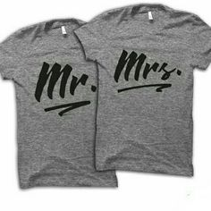 Shop Women's Silver size Various Tees - Short Sleeve at a discounted price at Poshmark. Description: Tell us your size, unisex regular tee for a man or woman couple tees. King Y Queen, Our Wedding, Dream Wedding, Wedding Ideas, Couple Tees, Couple Stuff, Mrs Shirt, Future Boyfriend, Boyfriend Goals