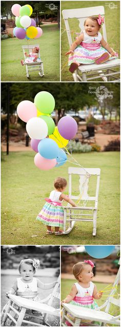 Baby Girl's 1-Year Portraits - Balloons done this a couple weeks ago for a friend...i loved it