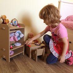 Cardboard furniture for dolls