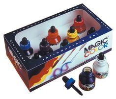 Magic Color Acrylic Ink SET OF 8 28ml Bottles with dropper lids #ink #magic #color #colour #artsupplies #artmaterial #jacksons