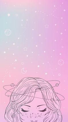 Cute Galaxy Wallpaper, Wallpaper Pastel, Wallpaper Tumblr Lockscreen, Wallpaper Space, Iphone Background Wallpaper, Aesthetic Pastel Wallpaper, Kawaii Wallpaper, Love Wallpaper, Planets Wallpaper